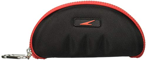 Speedo Unisex Swim Goggle Protective Case Black/Red, One Size