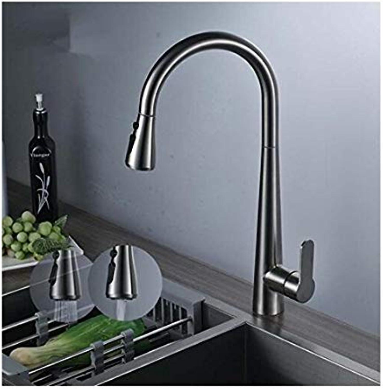 Küchenarmatur Aus Verchromtem Messing Warmes Und Kaltes Wasserhahn Für Die Küche Waschen Ziehen 360 Grad Swivel Mischbatterie Doppelfunktionssprüher Auslauf