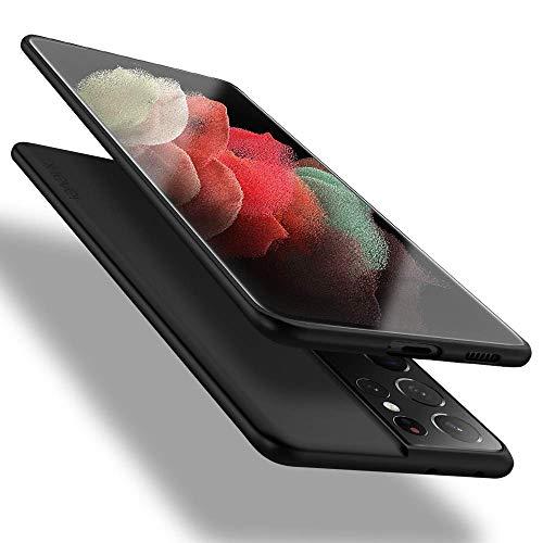 X-level Samsung Galaxy S21 Ultra 5G Hülle, [Guardian Serie] Weich TPU Handyhülle Dünn Hülle Cover Silikon Bumper Schale Tasche Schutzhülle für Samsung S21 Ultra 5G - Schwarz
