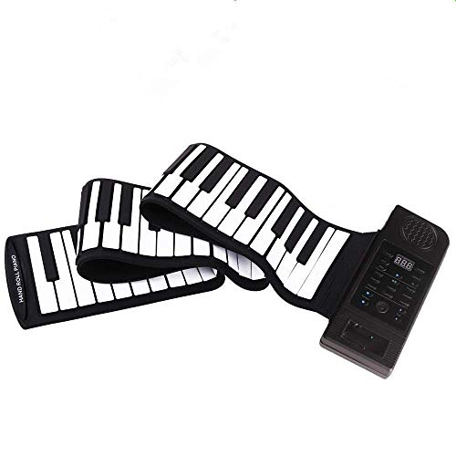 For Sale! Portable Piano 88 Keys Flexible Roll-Up Electronic Digital Music Educational Thickened Pia...