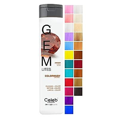 Celeb Luxury Intense Color Depositing Colorwash Shampoo + BondFix Rebuilder, Vegan, Sustainably Sourced Plant-Based, Semi-Permanent, Viral and Gem Lites and Duo Bundle Sets
