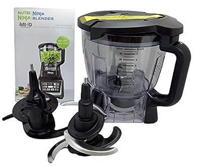 Ninja 64oz (8 Cup) Food Processor Bowl Lid Blade Kit Only for BL640 BL641 BL642 BL680 BL682 Blender
