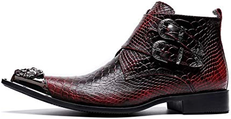 LOVDRAM Mnner Lederschuhe Marke Echtes Leder Mnner Stiefel Britischen Stil Alle Match rot Einfache Spitz Stiefel Stiefel Knchelschuhe