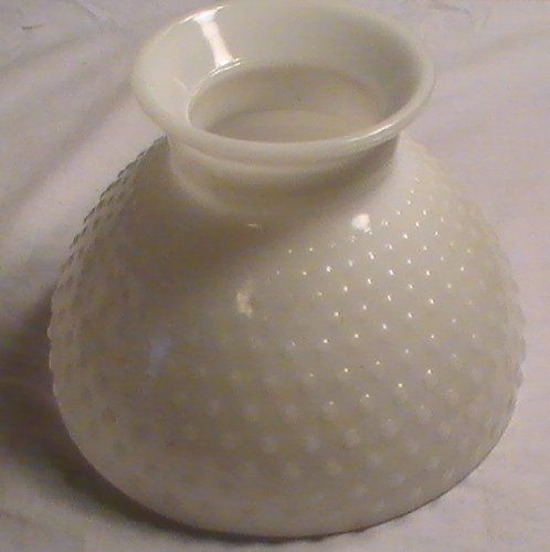 Vintage Milk Glass Hobnail Lamp Globe