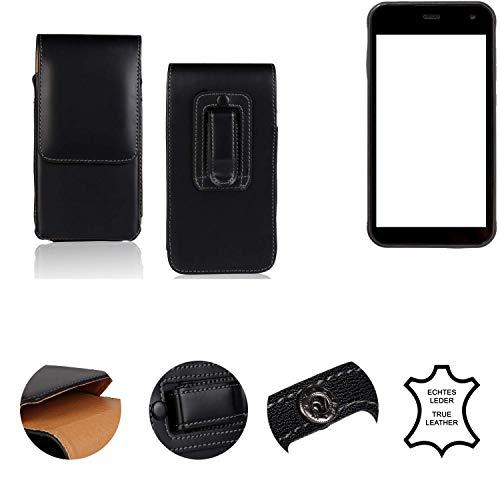 K-S-Trade® Holster Gürtel Tasche Für Cyrus CS 22 Handy Hülle Leder Schwarz, 1x