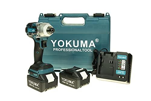 Professional Yokuma Impact Wrench Cordless Hex Screwdriver 18V 3.0 AH Screwdrivers Erman