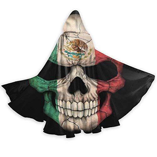 Disfraz Halloween Bandera Mexicana Skull Head USA Disfraz De Fiesta De Moda Navidad Fiesta Disfraces Unisexo Disfraz De Bruja para Fiesta De Halloween Nios 150X40Cm