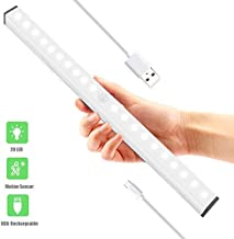 Under Cabinet Lighting, Bluelark 20-LEDs Wireless Motion Sensor Light Built in Rechargeable Battery Led Closet Light Portable Magnetic Security Night Light for Kitchen Closet Hallway Stairway