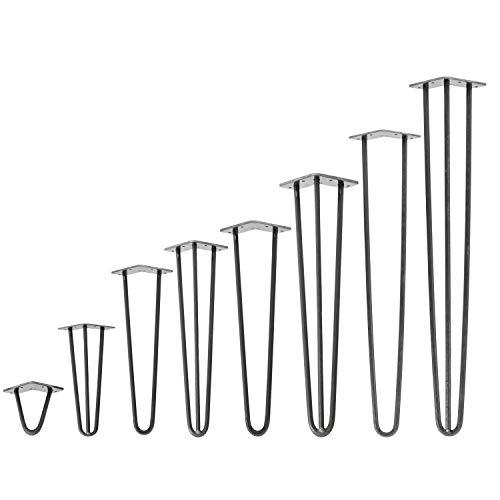 4x Natural Goods Berlin Hairpin Leg Tischbeine |12mm Stahl | Industrial Anthrazit | alle Größen | 40cm/2Stangen
