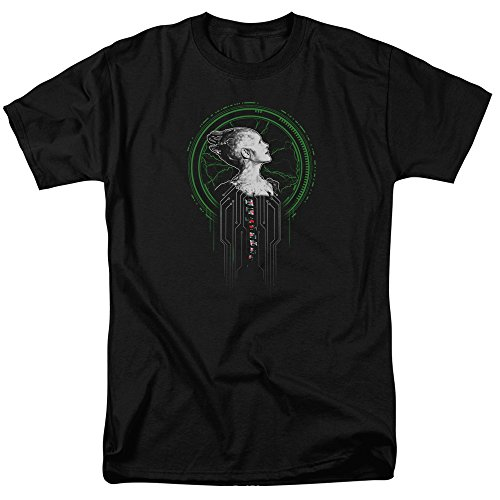 Star Trek Borg Queen - Camiseta de Manga Corta para Hombre, Color Negro