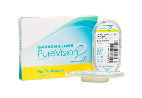 PureVision2 HD for Presbyopia Monatslinsen weich, 3 Stück BC 8.6 mm / DIA 14 / 5.5 Dioptrien / ADD High