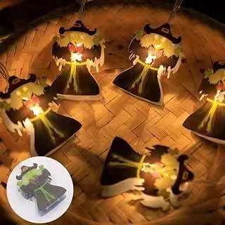 Luces de cadena de mago de Halloween colgante luminoso luces LED impermeables adecuadas para la decoración del patio del jardín del hogar 3m 20 LED