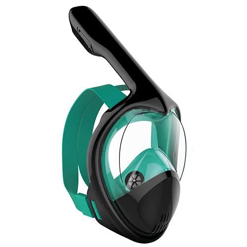 RatenKont Mascarillas de Snorkel de Cara Completa Panorámica 180 Ver Anti-Niebla Anti-Fugas Scuba de Buceo Submarino MintGreen S/M