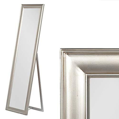 LEBENSwohnART Standspiegel NURI Antik-Silber ca. H160cm Ankleidespiegel Ganzkörperspiegel