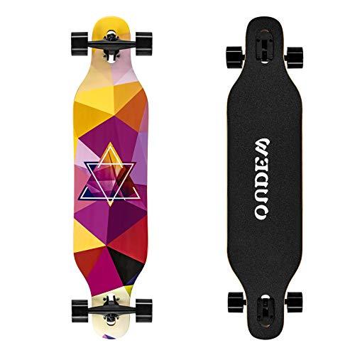 OUDEW Longboard Skateboard, 41 Inch 8 Layer Canadian Maple Drop Through Longboards for Kids Boys Girls Youths Beginners.