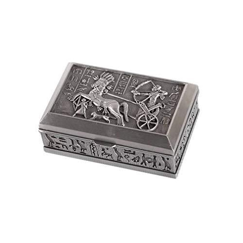 Joyero – hecho de metal – Bonita decoración egipcia