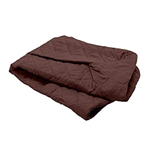 Furhaven Pet Dog Bed Cover – Quilted Traditional Sofa-Style Living Room Couch Pet Bed Replacement Cover for Dogs and Cats, Coffee, Medium