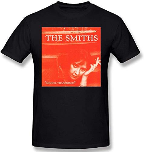 Hombre/Men's The Smiths Louder Than Bombs Pure Cotton Black T-Shirts for Men Camisetas Hombre