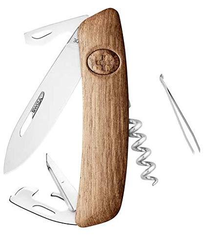 SWIZA D03 Bois de Noyer Couteau Suisse Adulte Unisexe, 75mm