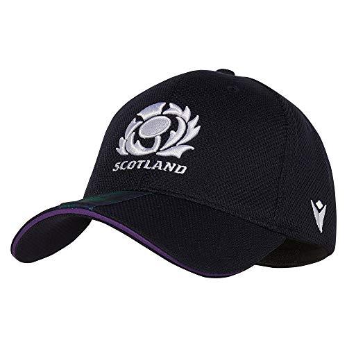 Macron Fanartikel Schottland · SRU Scotland Rugby Baseball Cap Polyester · Accessoires Schirm Mütze Kappe Freizeit Sommer · Unisex Damen Herren Frauen Männer · Farbe dunkelblau, Erwachsene, Größe SR