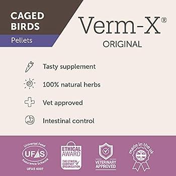 Verm-X Original Granulés pour Oiseaux de Cage 100 g