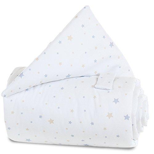 Babybay Grille protection pour lit - bébé - Mélange d'étoiles sable / azur