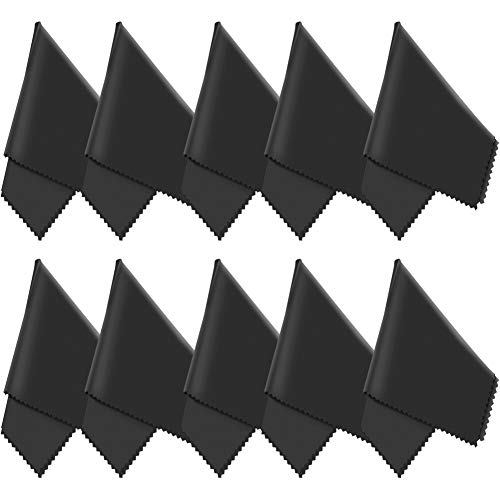 10X GRUTTI Mikrofasertücher - 20x20 cm Mikrofaser Brillenputztuch. Kamera Objektiv Microfaser Reinigungstücher. LCD, Led TV Bildschirm Microfasertuch Reinigung. Laptop pc Display Reiniger Tuch
