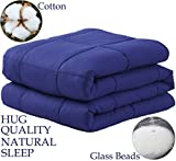 LBRO2M Weighted Blanket Cooling for Adults and Kids,100% Natural...