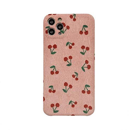 Para iPhone 11 Caso Lindo De Tela De Cereza De Teléfono De La Cubierta Para Iphone 11 Pro Max 7 8 Plus XS XR X SE 2020 Silicona Frutas Otoño Casos De Cereza Para iPhone XS