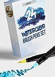24 Real Brush Watercolor Pens: Simply Create...