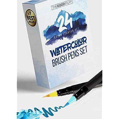 24 Real Brush Watercolor Pens: Simply Create Be...