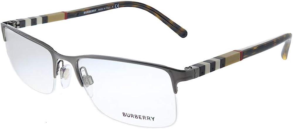 Burberry BE 1282 Sale SALE% OFF 1008 Brushed Metal Eyegla Semi-Rimless Gunmetal Directly managed store