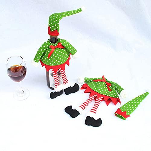 KaKaDz Bolsas de Botella de Vino de Navidad, Decoración de la Botella de Vino Decoración navideña para Decoraciones de Mesa de Vacaciones (Color : Dot)