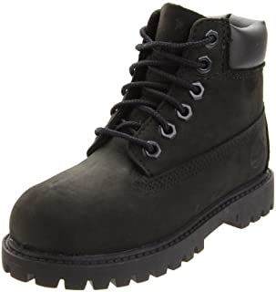 Toddler 6-Inch Premium Waterproof Boots Black Nubuck 9 M