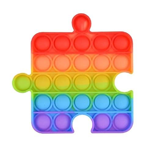 pop it zucca C&X Pop It Quadrato Puzzle Arcobaleno