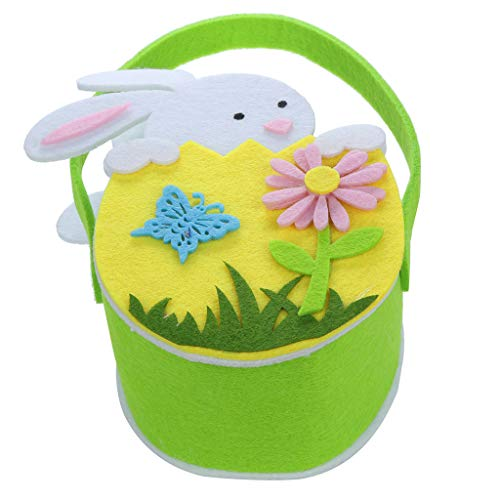 Iusun Easter Rabbit Bunny Candy Bag Creative Portable Holder Present Home Accessory Organizer Pouch Xmas Cartoon for Chocolates Candies Biscuits Home Decor Supplies Gift (Yellow)