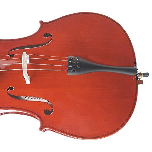 Cecilio tamaño 4/4 (tamaño completo) violonchelo estudiantil con estuche duro y suave, soporte, arco, colofonia, puente y juego extra de cuerdas, 4/4CCO-100