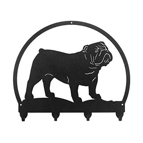 SWEN Products English Bulldog Metal Key Chain Hanger - Leash Holder
