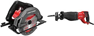 CRAFTSMAN 7-1/4-Inch Circular Saw, 13-Amp with Reciprocating Saw, 7.5-Amp (CMES500 & CMES300)