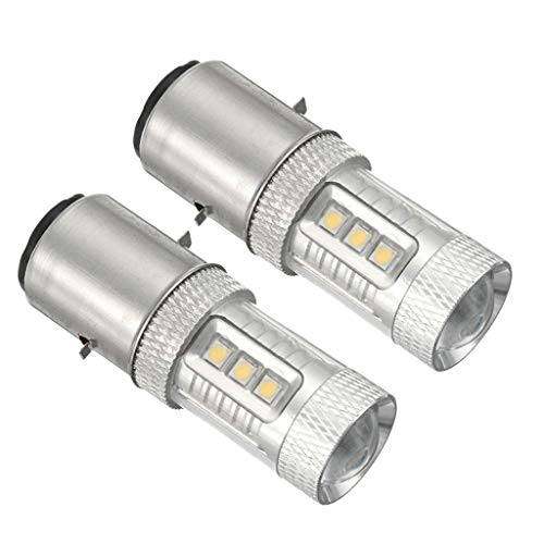 prasku 2 Piezas H6 BA20D 16 Faros LED Bombilla de Haz de Luz/Baja 6000K Luz Antiniebla