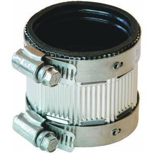 FERNCO GIDDS-97856 Reducing-Size No-Hub Coupling, 2 x 1-1/2 by Fernco