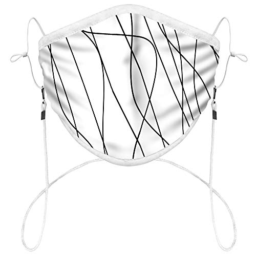 Hanging Cloth Face Mask with Perfect 3D Print - Breathable,Reusable & Washable - Adult (Thoughts)