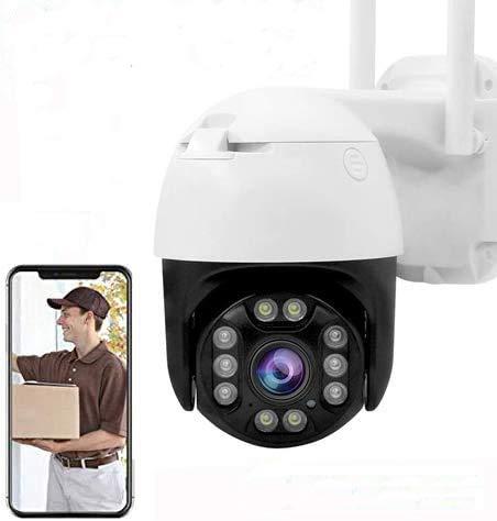 IP Camera PTZ Telecamera di Sorveglianza Videocamere WIFI Esterno 1080P Senza Fili 320° /100°, Visione Notturna, Audio a 2 Vie, Motion Detection, Messaggio Push
