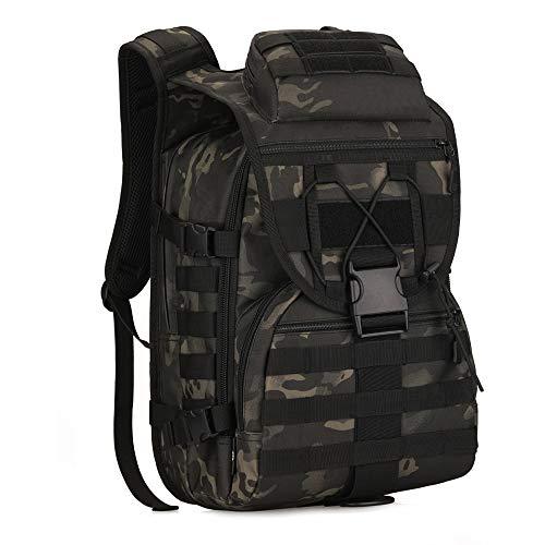 YFNT Militär Schulter Rucksack 40L Tactical Tagesrucksack MOLLE Assault Pack Rucksack Gear Wasserdicht Tasche für Jagd Camping, Jungle Digital (Nacht Tarnung)