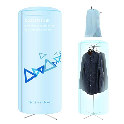Portable Clothes Dryer, Foldable dryer for apartments, Travel Electric dryer machine with Power Failure Protection, 22-Pound Carrying Weight, Automatic Timer with 180 Minutes Maximum Timing Range