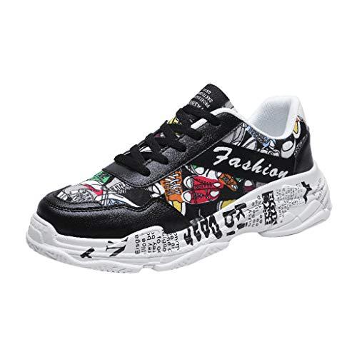 Shinehua Hardloopschoenen voor heren, lichte schoenen, modieus, graffiti, sportschoenen, outdoorschoenen, dames, heren, halfschoenen, vrijetijdsschoenen, fitnessschoenen, ademend, antislip, straatloopschoenen 39-44