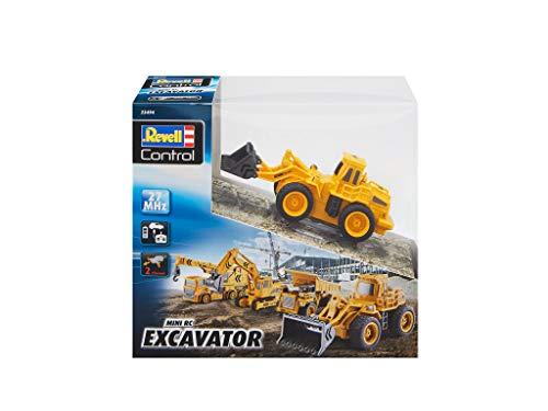 RC Auto kaufen Baufahrzeug Bild 2: Revell Control 23494 RC Baufahrzeug Radlader, 27MHz, Akku ferngesteuertes Auto, gelb-orange, 12,5 cm*