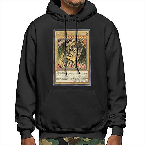 LWJKI Design, Menduel Monsters The Winged Dragon of Ra Card with Hood, Size, Sweatshirtsblack Small