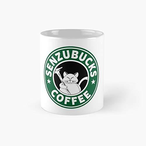 Sensubucks Coffee Classic Mug - Funny Gift Tea Cup White 11 Oz The Best Gift For Holidays.