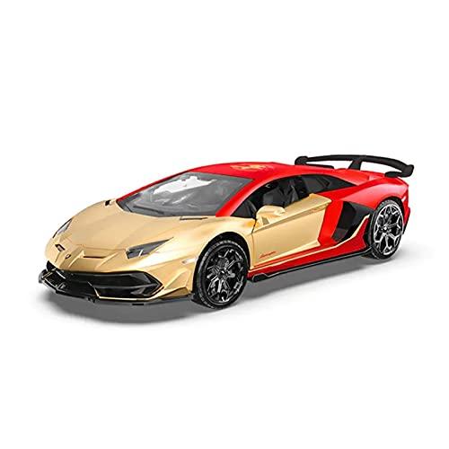 para Lamborghini Aventador SVJ 1:32 Escala Pull Back Diecast Vehículos Aleación Coches Deportivos Modelo Coche Simulación De Metal